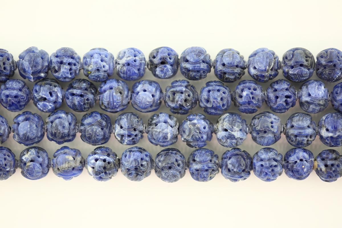 Sodalite Carved Round 10mm