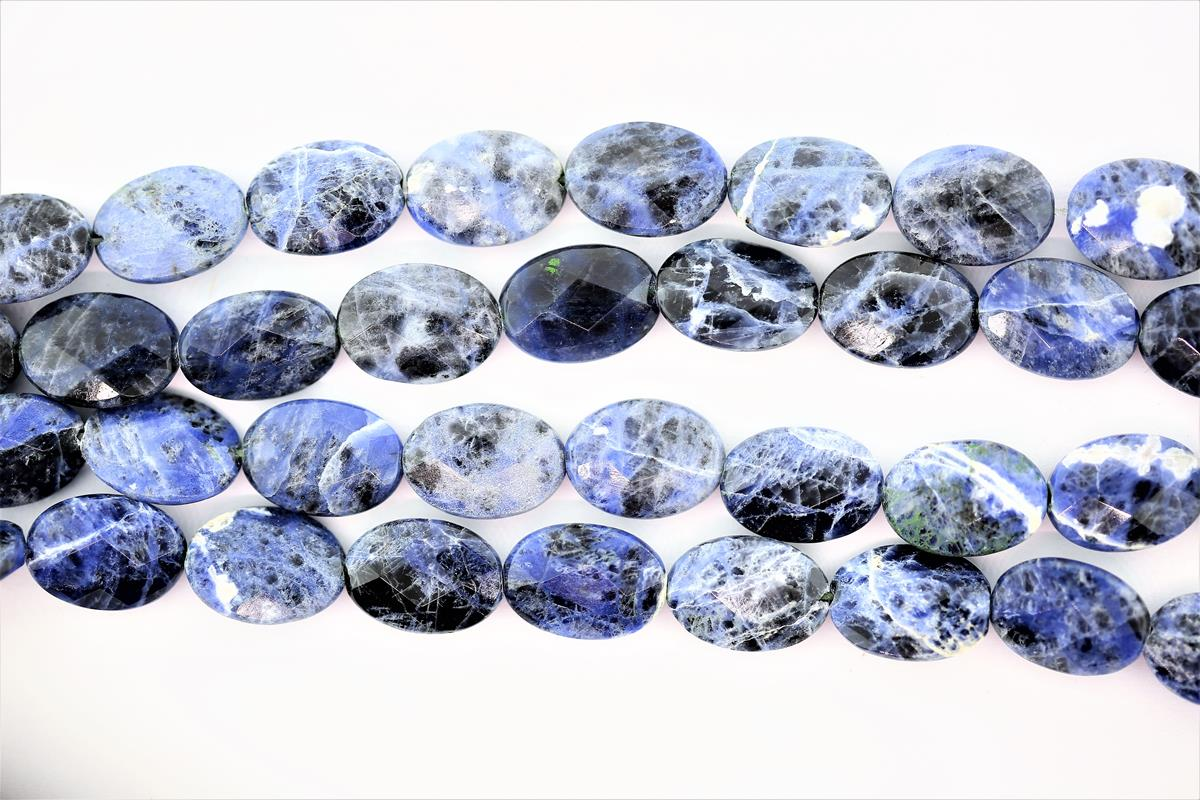 Soldalite Faceted Oval 18x13mm