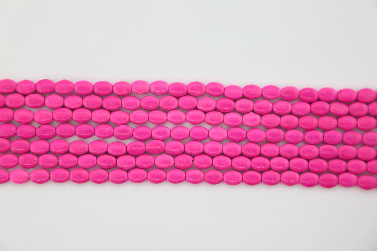 Magnesite Pink Oval 6x8mm