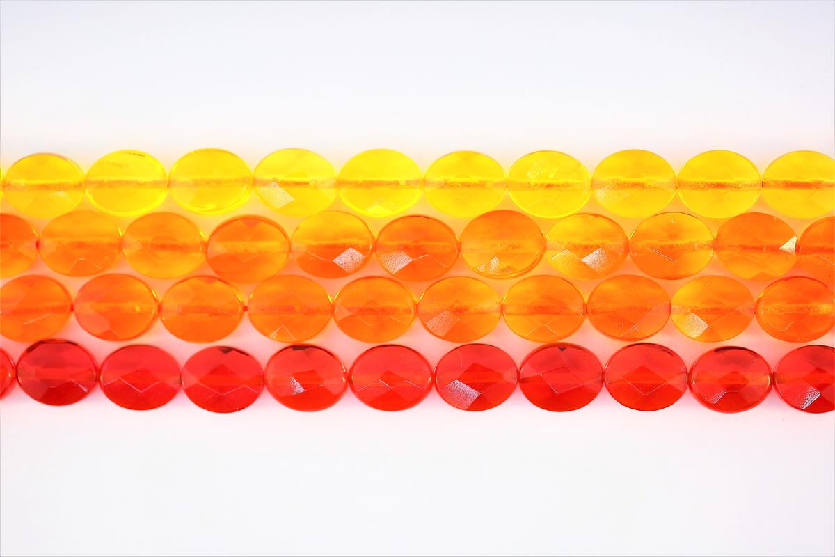 Glass Faceted Oval 8x10mm