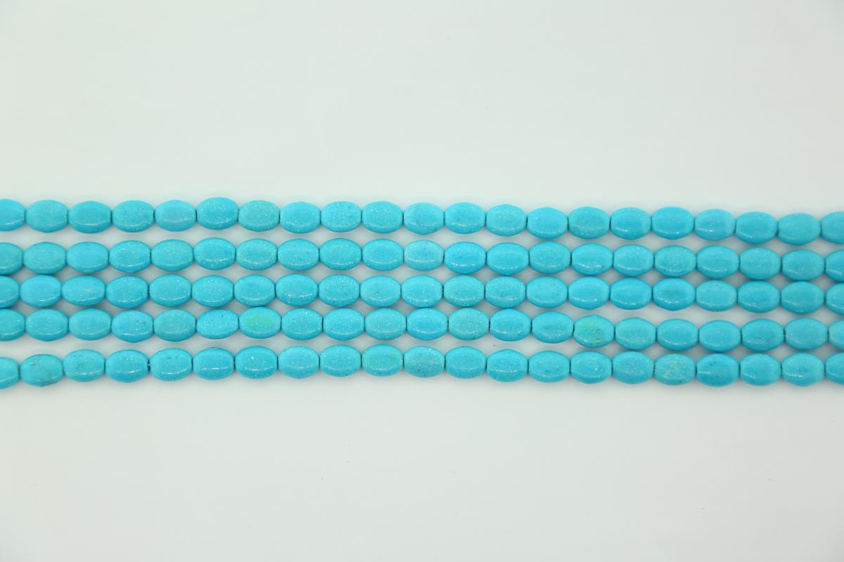 Magnesite Blue Oval 6x8mm