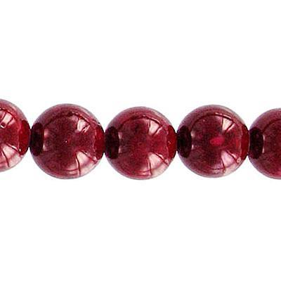Fossil Bead Red Round 10mm