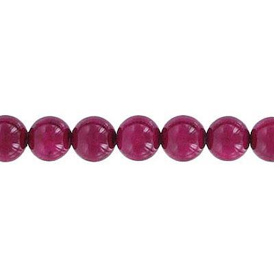 Fossil Bead Burgundy Round 6mm