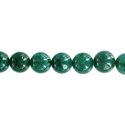 Fossil Bead Dk Green Round 6mm