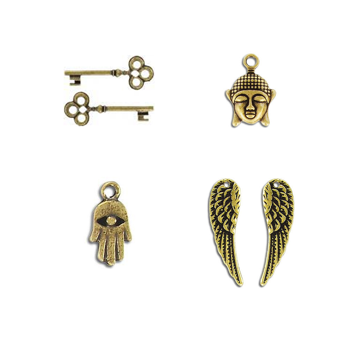 Charms - BM - Antique Brass